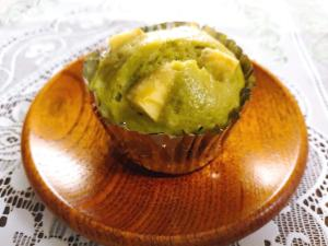 青汁薩摩芋蒸しパン