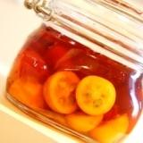 砂糖なしのヘルシー果実酒、金柑のフルーツブランデー