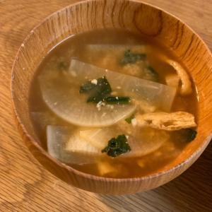 大根と薄揚げのお味噌汁