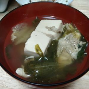 レタスと豆腐の味噌汁