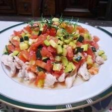 鶏胸肉のカルパッチョ風サラダ