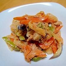 残り野菜のツナ炒め