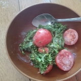 菜の花とミニトマトの胡麻和え