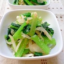 小松菜と玉葱の明太子和え