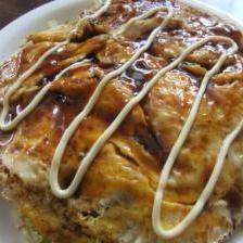 フライパン1つで簡単♪広島風お好み焼き(餅チーズ)
