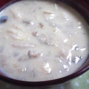 しょうがたっぷり☆きのこの豆乳スープ
