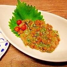 大葉味噌☆納豆