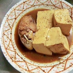 さば味付缶と豆腐の煮物