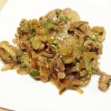 豚肉と玉ねぎのポン酢マヨネーズ炒め