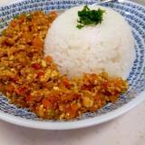 豆腐でかさ増し(^^)子供が喜ぶ簡単キーマカレー♪