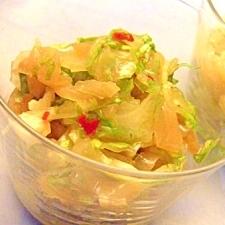 セロリと中華クラゲの和え物