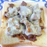 ☆牛肉で♪ 焼き肉味のチーズトースト☆