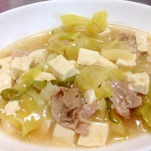 春キャベ豆腐