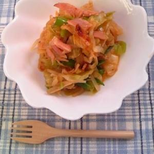 ピリ辛っ美味しいっ!食べるラー油で野菜炒め♪