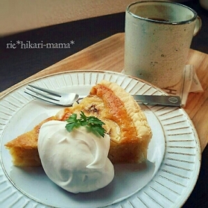 混ぜて焼くだけ簡単♡バナナケーキ♡