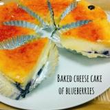 簡単☆ブルーベリーチーズケーキ