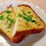 桜えびチーズトーストで簡単朝食