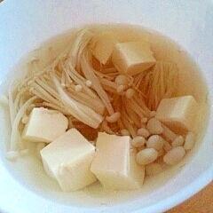 えのきと豆腐の中華スープ
