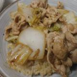 白菜と豚肉の生姜&ニンニク甘辛丼