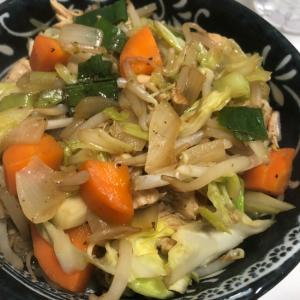 野菜たっぷり!鶏肉のオイスターソース炒め