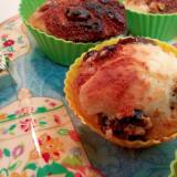 プルーンとザラメ糖のカップケーキ