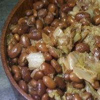 金時豆と白菜の醤油煮