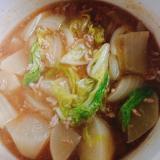 白菜と大根のひき肉煮