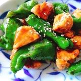 【夫婦のおつまみ】ししとうと鶏むね肉の焼き鳥風炒め