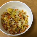 幼児食☆キャベツと人参の炒り卵