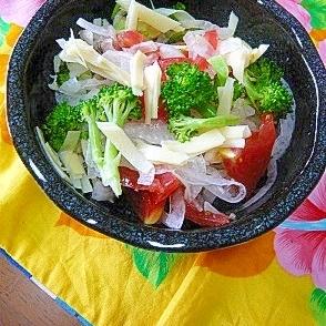 ❤ 新玉&筍の姫皮&トマトのサラダ ❤