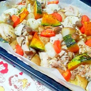 鶏肉と色々野菜のぎゅうぎゅう焼き