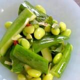 枝豆ときゅうりの漬物