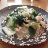 簡単白菜と鶏ひき肉のトロトロ丼