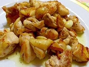 沖縄の家庭料理☆島にんにくと鶏肉炒め