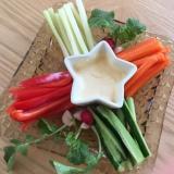 クリスマスカラーの野菜スティック
