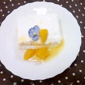 黄桃のヨーグルトケーキ