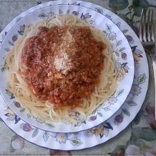 すごく美味しいミートソーススパゲッティ