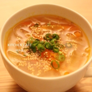 人参と大根の春雨スープ