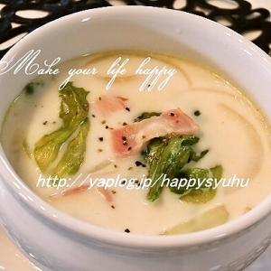 レタスとベーコンのミルクスープ