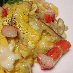 カニカマ卵炒め