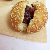 HMで簡単!(^^)羊羹入り胡麻ドーナッツ♪