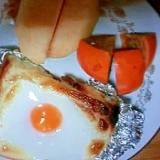 トースター不使用の、マヨたまトースト