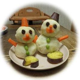 ★ゆきだるま★ポテトサラダ クリスマスにどうぞ