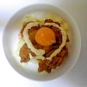 鶏から&マカロニサラダ丼