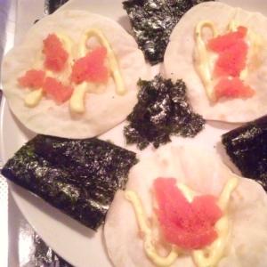 【超簡単おつまみ】餃子の皮のパリパリカナッペ