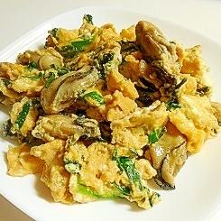 牡蠣とニラと卵のオイスター炒め