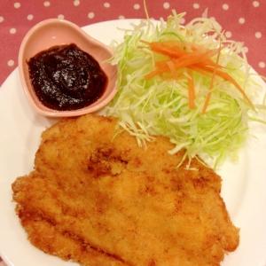 *味噌チキンカツ*天ぷら粉で簡単に。
