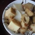 厚揚げと竹輪里芋の煮物