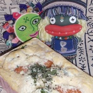 塩麹豆腐と長芋とブロッコリーのグラタン