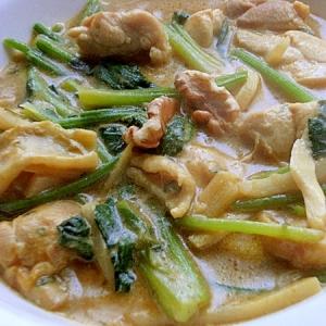 簡単タイ風❤鶏もも肉&タケノコのミルクカレー♪